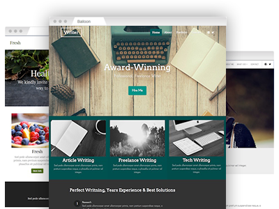 A set of easy–to–redesign website templates